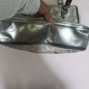 Coach Bags - Silver Coach Print Purse